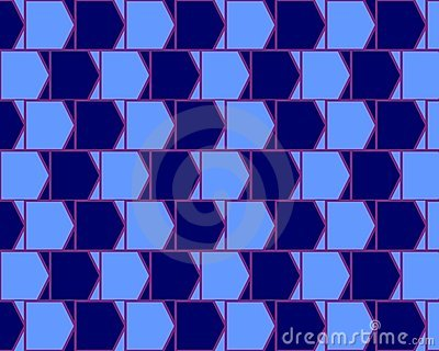 Optical Illusion Cafe Wall Variant  Cyan And Blue