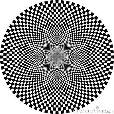 Optical illusion, circle
