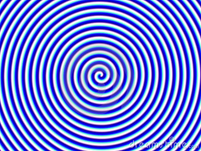 Optical Illusion Hypno Blue White Spiral Single