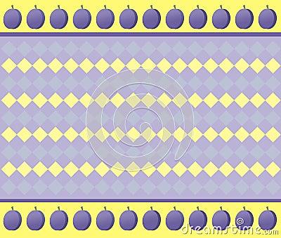 Optical illusion. Plums