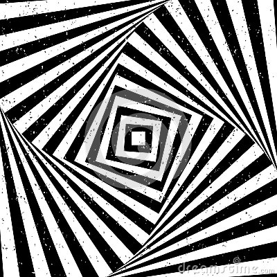 Optical illusion with texture