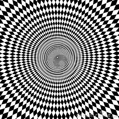 Free Optical Illusion Zoom Black And White Background Royalty Free Stock Photo - 66069815