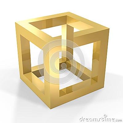 Optical illustion cube