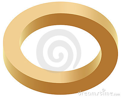 Optical illustion ring