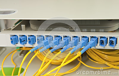 Optical network cables and servers