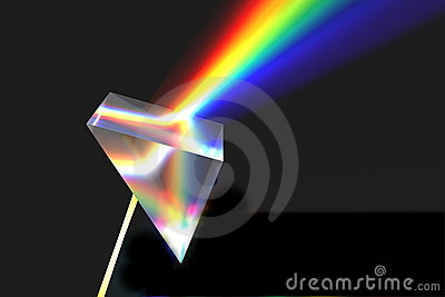 Optical prism and rainbow