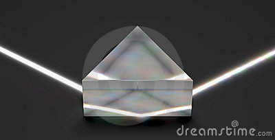 Optical prism reflecting light beam