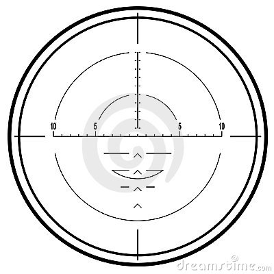 Optical sniper rifle sight