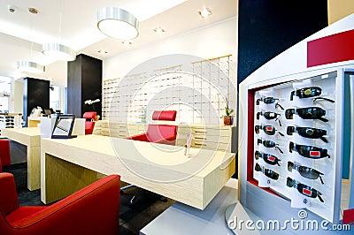 Optician salon