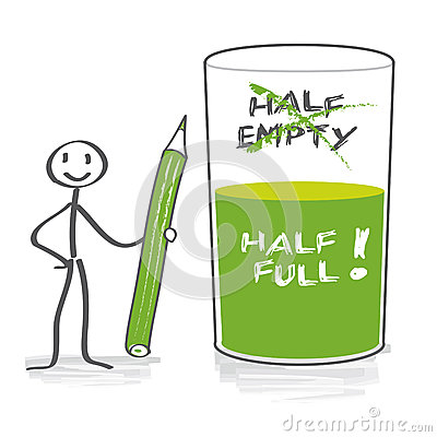 Free Optimist With Half-full Glass Stock Image - 39656111