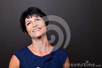Optimistic middle aged woman