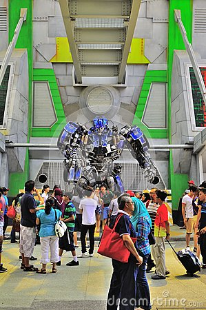 Optimus prime at the Universal Studio Singapore Editorial Photography
