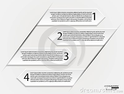 Options infographics arrows