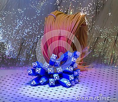 Optisk bakgrund för fiber