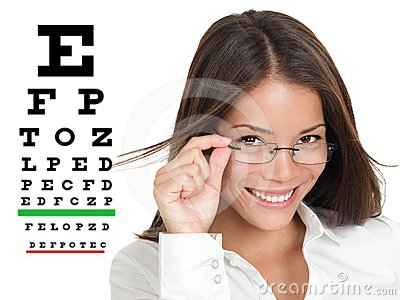 Optometrist or optician with eyewear glasses