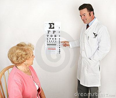 Optometrist Showing Eye Chart