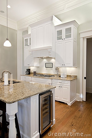 Opulent white kitchen