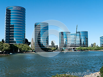 Oracle Campus in Redwood City Editorial Photography
