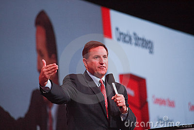 Oracle president Mark Hurd makes speech Editorial Photo