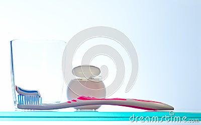 Daily oral hygiene routine