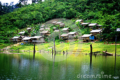 Orang Asli Aboriginal Village Editorial Photo