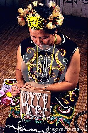 Orang Ulu Beadswork Editorial Photography