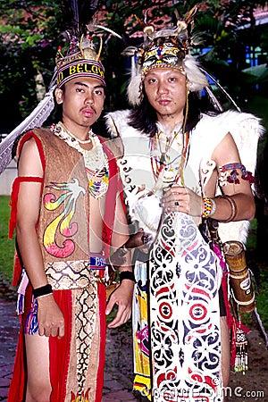 Orang Ulu Warrior Editorial Photo