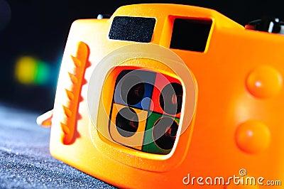 Orange 4-frame toy camera