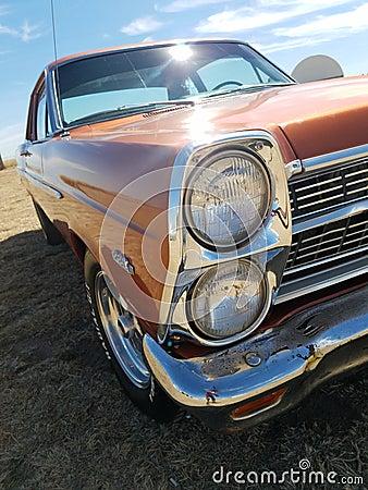 Free Orange `67 Ford Fairlane Stock Image - 123246711