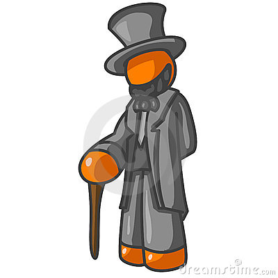 Orange Abe Lincoln Character