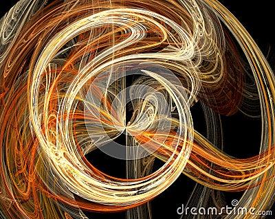 Orange abstract burst design