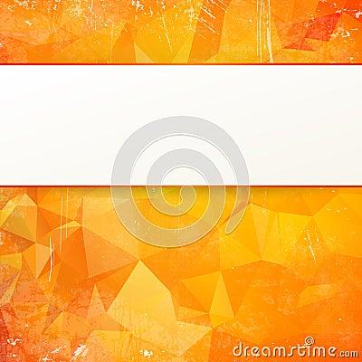 Orange abstract geometrical background.