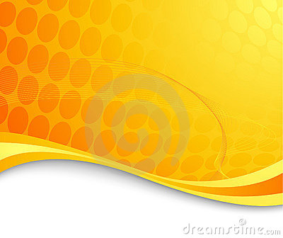 Orange abstract hi-tech background