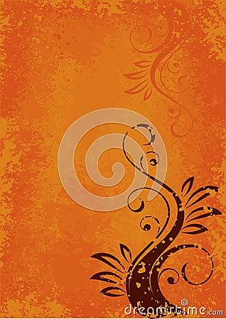 Orange abstract layout