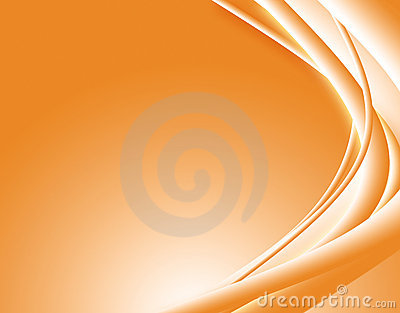 Orange abstract waves.
