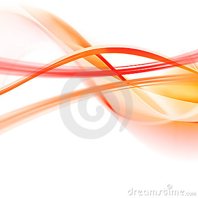 Free Orange Abstraction On A White Stock Photography - 3446542