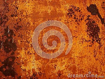 Orange aged wall