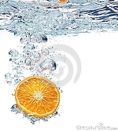 Orange and air bubbles