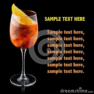 Free Orange Alcohol Cocktail With Orange Slice Isolated On Black Royalty Free Stock Photography - 110560947