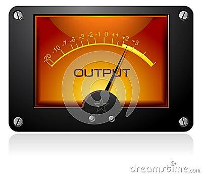 Orange Analog Meter