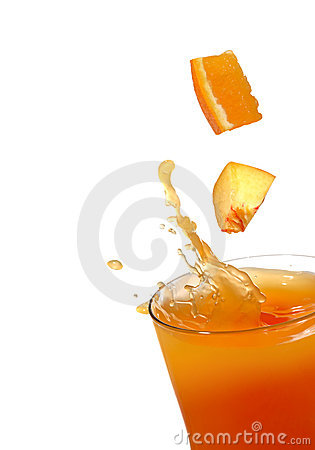 Free Orange And Peach Juice Royalty Free Stock Photo - 3440385