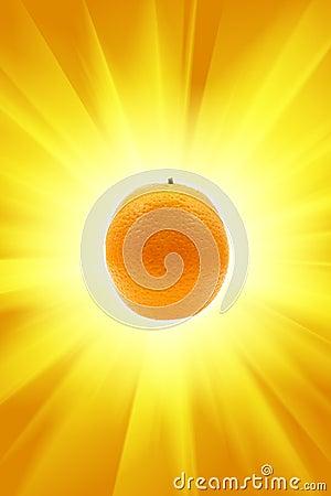 Free Orange And Sun Royalty Free Stock Photo - 5364535