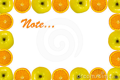 Orange apple background