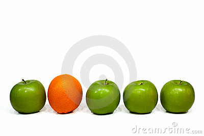 Orange and apples