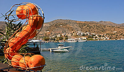 Orange on background Elounda