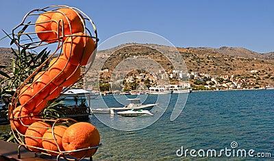 Orange on background Elounda