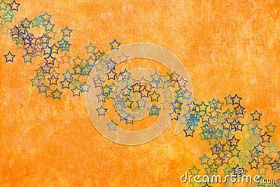 Orange background with stars