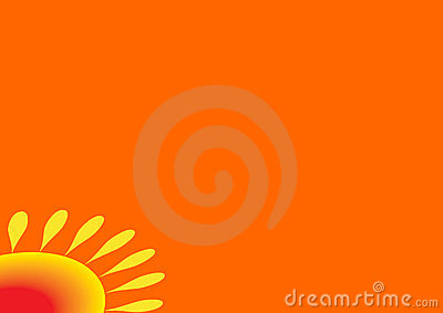 Orange background sun in the c