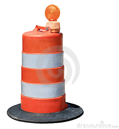 Free Orange Barrel Stock Photography - 5468572
