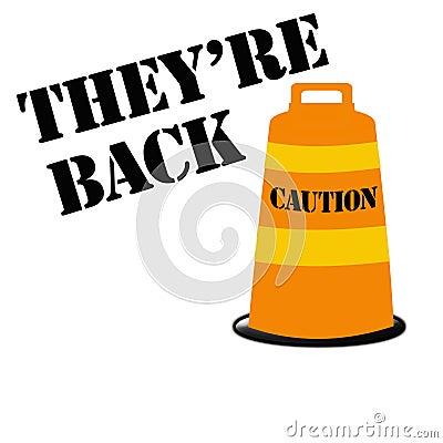 Orange barrel alert